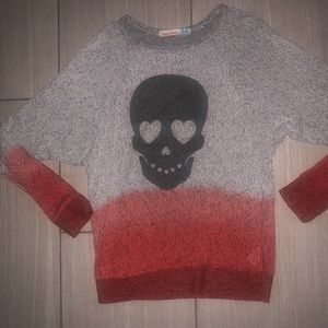 Vintage Havana Heart skull ombré sweater XL 16
